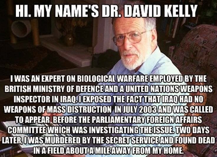 The UK Murder Cover-Up Of Dr David Kelly.